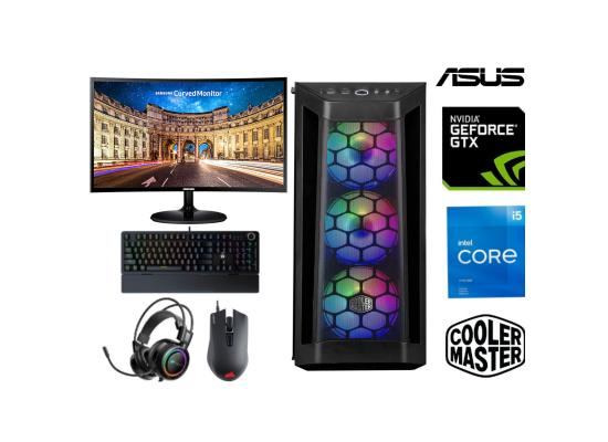 "INTEL CORE i5 11400F // GTX 1650 // 8GB RAM // SAMSUNG 24"" Curved Monitor CF390 // - GAMING (BUNDLE)"