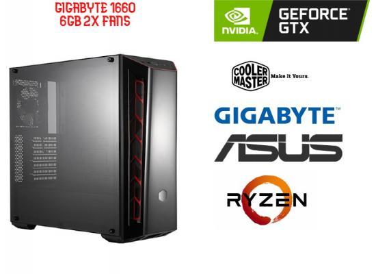 OS GAMING RYZEN 5 3400G , GigaByte GTX 1660 6GB Dual OC  2x Fans
