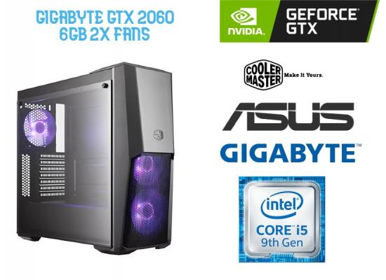 OS GAMING INTEL CORE I5 9400F , GIGABYTE GTX 2060 6GB OC  2x Fans