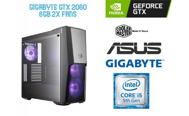 OS GAMING INTEL CORE I5 9400F , GIGABYTE GTX 2060 6GB OC  2x Fans