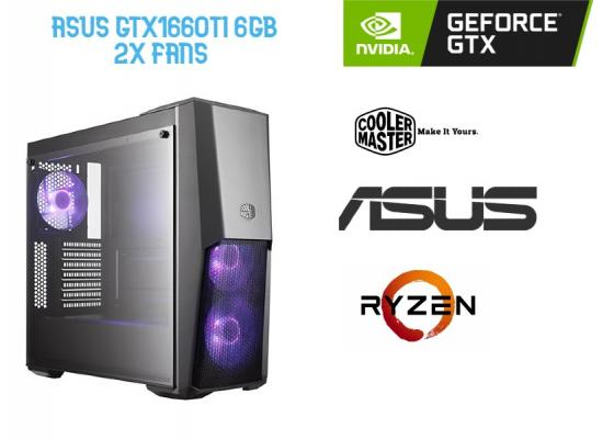 OS GAMING AMD RYZEN 5 3600 , ASUS GTX 1660TI  6GB OC  2x Fans