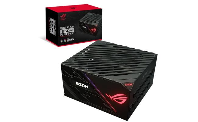 Asus ROG Thor 850W Platinum Power Supply with Aura Sync and an OLED display