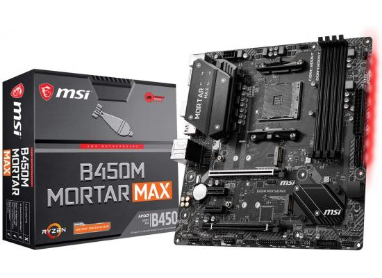 MSI AMD RYZEN B450M MORTAR Gaming Motherboard