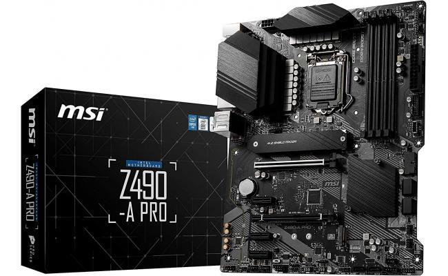 MSI Z490 - A PRO Gaming Motherboard DDR4, Dual M.2 Slots, LGA 1200