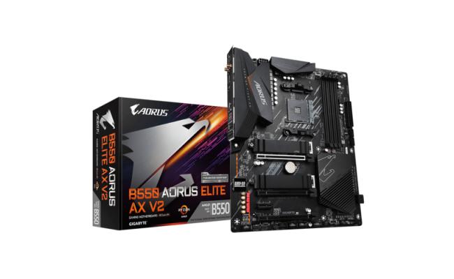 GIGABYTE B550 AORUS ELITE AX V2 Digital VRM Q-Flash Plus Gaming Motherboard