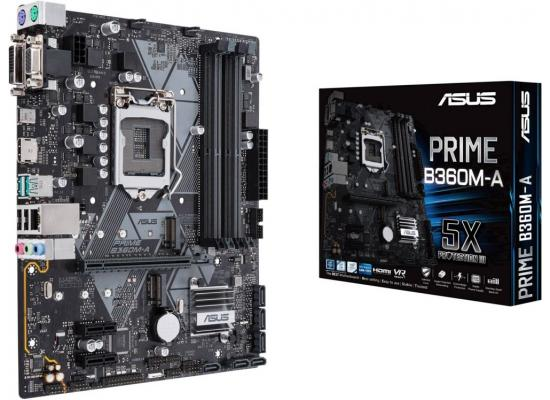 Asus Prime B360M-A mATX motherboard with Aura Sync RGB header //LGA1151 B360 Sata 6Gbps