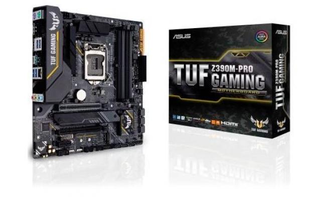 Asus TUF Z390M-PRO GAMING Motherboard with OptiMem II, Aura Sync RGB LED lighting