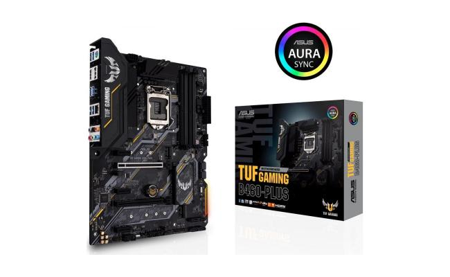ASUS TUF GAMING B460-PLUS ATX gaming motherboard with dual M.2,