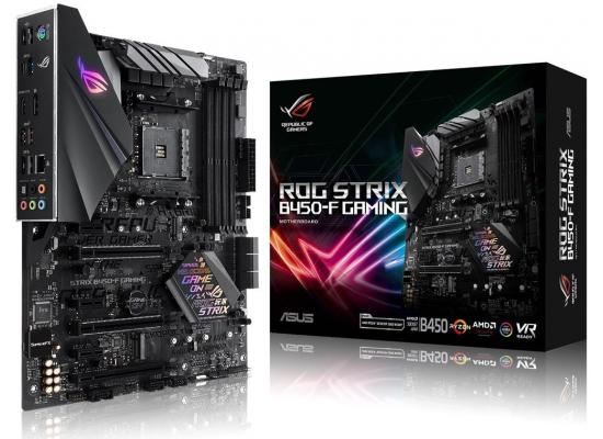 ASUS ROG STRIX B450-F GAMING AMD AM4 B450 ATX gaming motherboard with DDR4 4400MHz support