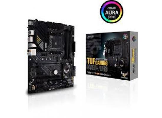 ASUS TUF GAMING B550-PLUS AMD B550 (Ryzen AM4) ATX gaming motherboard with PCIe 4.0, dual M.2