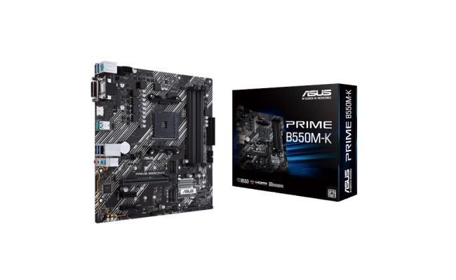 ASUS PRIME B550M-K (Ryzen AM4) micro ATX motherboard with dual M.2