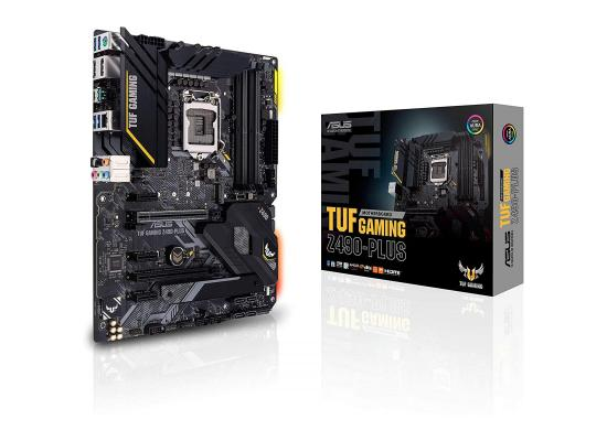 ASUS TUF GAMING Z490-PLUS LGA 1200 ATX motherboard with M.2, 14 DrMOS power stages