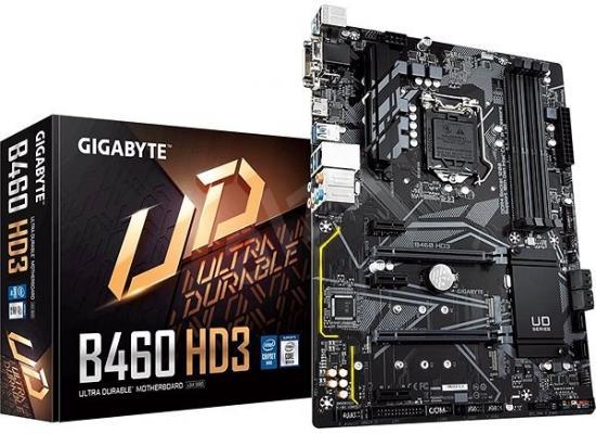 GIGABYTE  B460 HD3 Intel B460  LGA 1200 USB 3.1 M.2 Motherboard