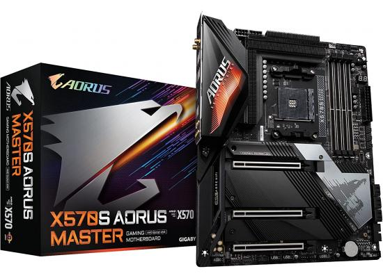 Gigabyte X570S AORUS MASTER WIFI 6, AMD Ryzen AM4 5000 Series,PCIe4.0, USB 3.2, RGB Fusion 2.0, ATX Gaming Motherboard