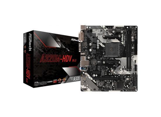 ASRock AMD Ryzen A320M HDV R4.0 Micro ATX Motherboard ,AM4 Compatibilility