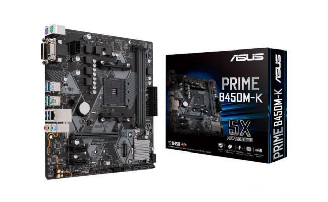 ASUS PRIME B450M-K AMD AM4 mATX Motherboard