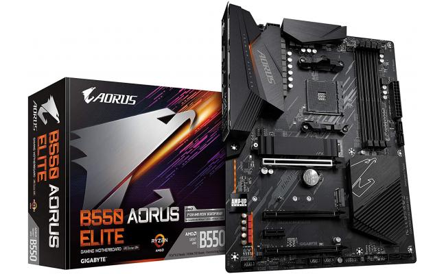 GIGABYTE B550 AORUS ELITE 12+2 Phases Digital VRM Q-Flash Plus Motherboard