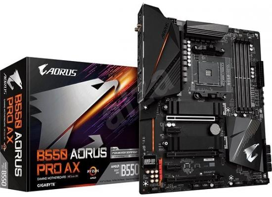GIGABYTE B550 AORUS PRO AX 12+2 Phases Digital Twin Power Design Q-Flash Plus Intel® WiFi 6 802 - Motherboard