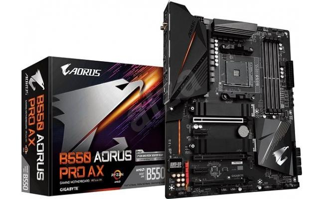 GIGABYTE B550 AORUS PRO AX 12+2 Phases Digital Twin Power Design Q-Flash Plus Intel® WiFi 6 802 - Motherboard