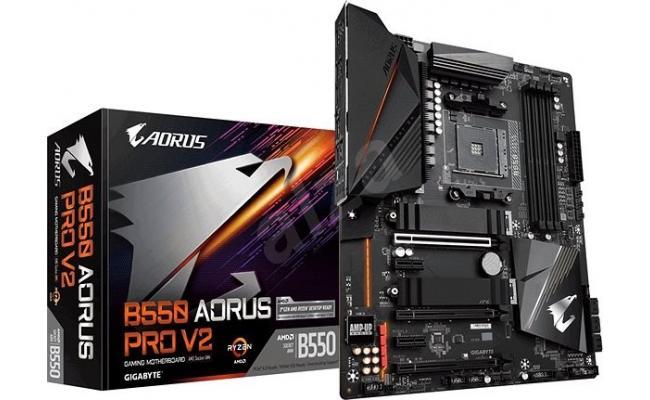 GIGABYTE B550 AORUS PRO V2 12+2 Phases Digital VRM Q-Flash Plus Motherboard