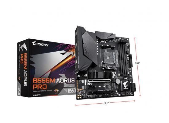 GIGABYTE B550M AORUS PROGigabyte Gaming GbE LAN, RGB FUSION 2.0  Motherboard
