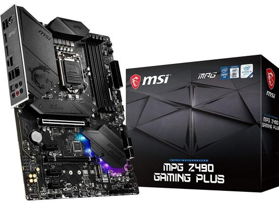 MSI MPG Z490 Gaming Plus Gaming Motherboard DDR4, CF, Dual M.2 Slots, USB 3.2 Gen 2 Motherboard LGA 1200