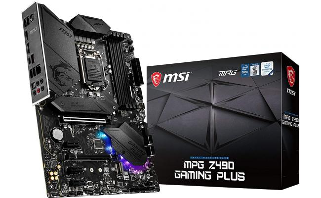 MSI MPG Z490 Gaming Plus Gaming Motherboard DDR4, CF, Dual M.2 Slots, USB 3.2 Gen 2 Motherboard LGA 1200