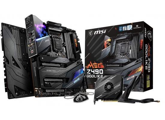MSI MEG Z490 GODLIKE SLI/CF, Triple M.2 Slots, Thunderbolt 3 Type-C, Wi-Fi 6, Mystic Light RGB E-ATX Motherboard LGA 1200