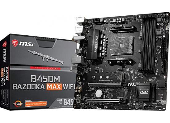MSI AMD RYZEN B450M BAZOOKA MAX WIFI M.2 PCIE 4.0 Motherboard