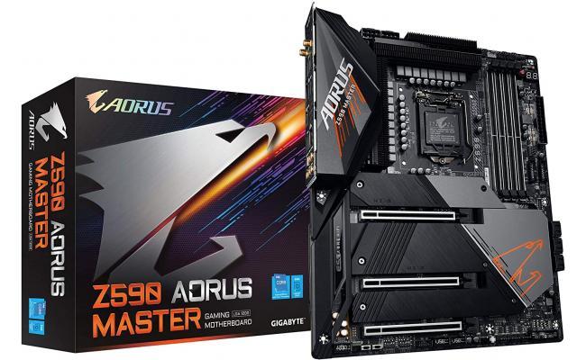 GIGABYTE Z590 AORUS MASTER LGA 1200/Intel Z590/ATX/Triple M.2/PCIe 4.0/USB 3.2 Gen2X2 Type-C/Intel WiFi 6E/AQUANTIA 10GbE LAN/Gaming Motherboard