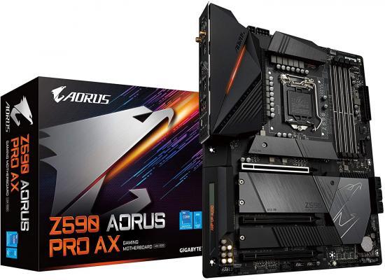 GIGABYTE Z590 AORUS PRO AX LGA 1200/Intel Z590/ATX/3x M.2/PCIe 4.0/USB 3.2 Gen2X2 Type-C/Intel WiFi 6/2.5GbE LAN/Gaming Motherboard