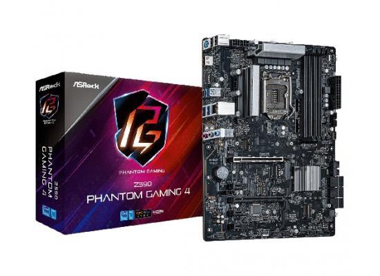 ASROCK Z590 Phantom Gaming 4 LGA1200/ Intel Z590 GEN 4/ DDR4/ 6 SATA3/USB 3.2 Gen2/7.1 CH HD Audio/ M.2/HDMI PORT/ ATX Motherboard