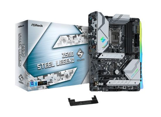 ASROCK Z590 STEEL LEGEND LGA1200/ Intel Z590 GEN 4/ DDR4/ 6 SATA3/USB 3.2 Gen2/7.1 CH HD Audio/ M.2/DisplayPort 1.4/ ATX Motherboard
