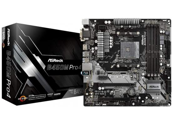 ASROCK B450m Pro4 AM4 mATX Motherboard