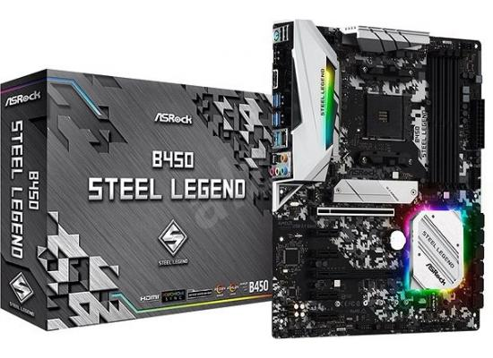 ASROCK B450 Steel Legend M.2 AM4 ATX Motherboard