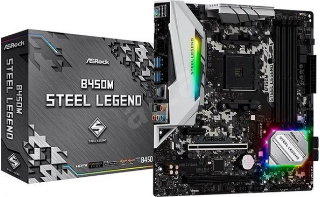 ASROCK B450M Steel Legend M.2 AM4 ATX Motherboard