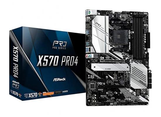 ASROCK X570 Pro4 DUAL M.2 ATX Motherboard