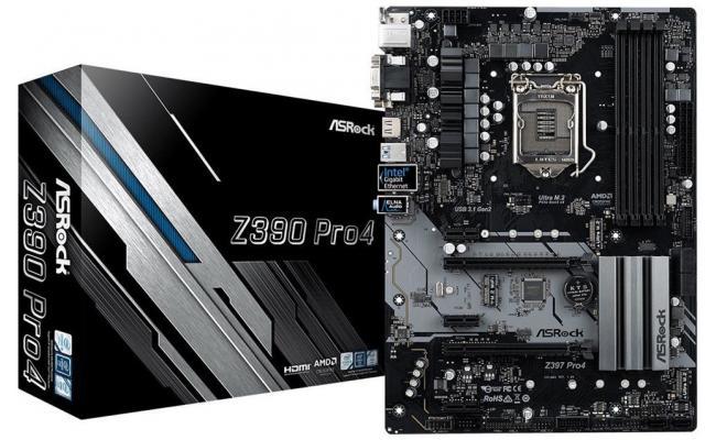 ASROCK Z390 Pro4 Dual M.2 ATX Motherboard LGA1151