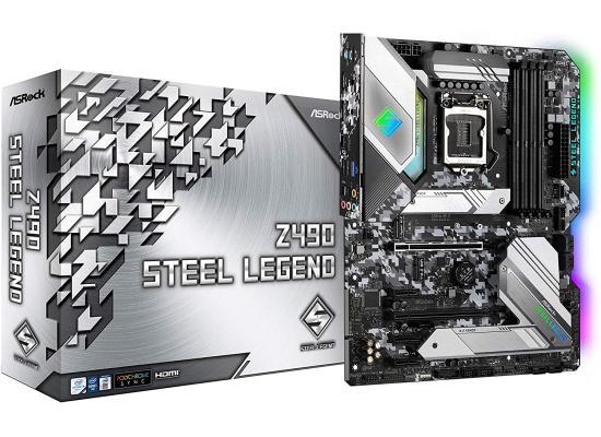 ASROCK Z490 Steel Legend RGB Dual M.2 ATX Motherboard LGA1151