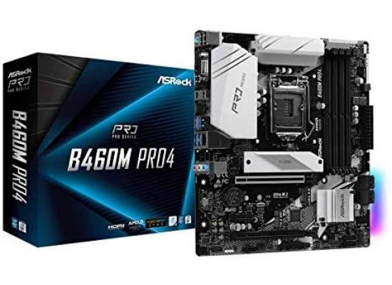 ASROCK B460M Pro4 M.2 mATX Motherboard LGA1200