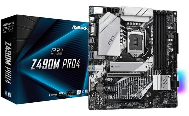 ASROCK  Z490M Pro4 RGB  M.2 10 Power Phase Design mATX Motherboard LGA 1200