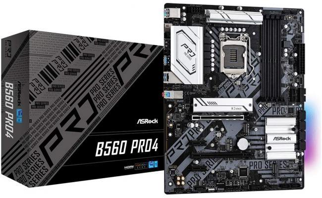 ASRock B560 Pro4 LGA 1200 Intel B560 GEN 4/ 6 SATA 6Gb/s/M.2 Support With Heatsink/7.1 Channels/DisplayPort 1.4/USB 3.2 Gen1 - ATX Motherboard