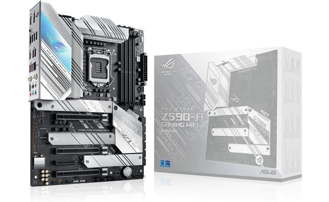 ASUS ROG STRIX Z590-A Gaming WiFi 6 LGA 1200(Intel 11th/10thGen) ATX White Scheme Gaming Motherboard (PCIe 4.0, 14+2 Power Stages, WiFi 6, Intel 2.5 Gb LAN, Thunderbolt 4, 3X M.2/NVMe SSD, Aura RGB