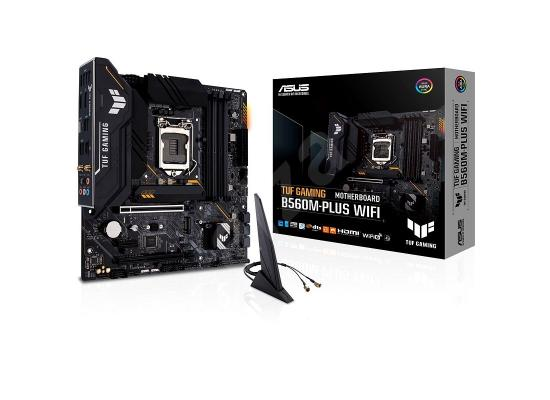 ASUS TUF Gaming B560M-PLUS WiFi LGA1200 (Intel11th/10th Gen) Micro ATX Gaming Motherboard (PCIe 4.0, 2X M.2 Slots,8+1 Power Stages, 2.5Gb LAN, WiFi 6, USB 3.2 Type-C, Thunderbolt 4 Support)