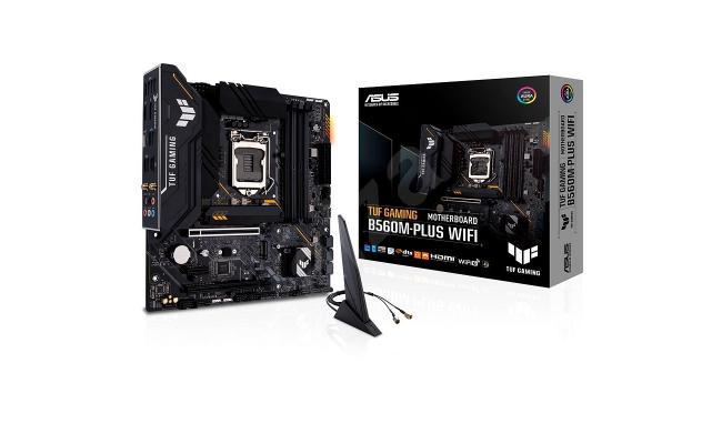 ASUS TUF Gaming B560M-PLUS WiFi LGA1200 (Intel11th/10th Gen) Micro ATX Gaming Motherboard (PCIe 4.0, 2X M.2 Slots,8+1 Power Stages, 2.5Gb LAN, WiFi 6, USB 3.2 Type-C, Thunderbolt 4 Support)