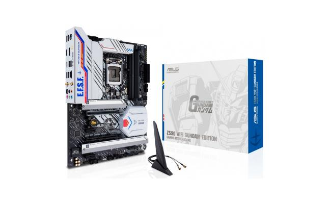 ASUS Z590 GUNDAM EDITION WiFi 6, (LGA 1200) ATX Gaming Motherboard, PCIe® 4.0, three M.2 slots, USB 3.2 Gen 2x2 Type-C®, Thunderbolt™ 4 support & Aura Sync RGB