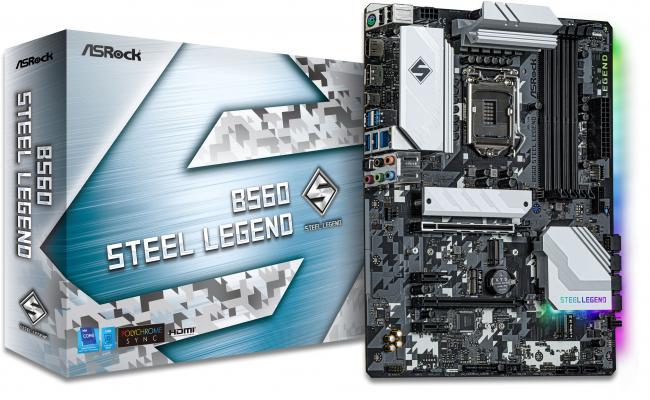 Asrock B560 Steel Legend LGA 1200 Intel B560 GEN 4/ 6 SATA 6Gb/s/M.2 Support With Heatsink/7.1 Channels/DisplayPort 1.4/USB 3.2 Gen2 - ATX Motherboard