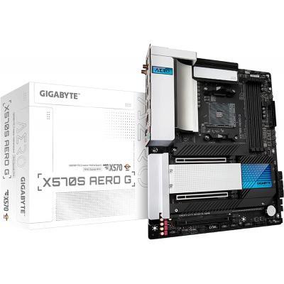 GIGABYTE X570S AERO G Wi-Fi 6, AMD Ryzen 5000, ATX/PCIe 4.0, SATA 20Gb/s, USB 3.2, Motherboard