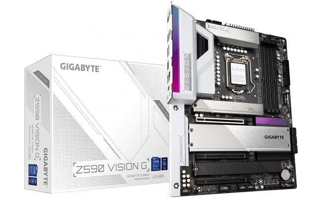 GIGABYTE Z590 Vision G LGA 1200/Intel Z590/ATX/3x M.2/PCIe 4.0/USB 3.2 Gen2X2 Type-C/2.5GbE LAN-Motherboard