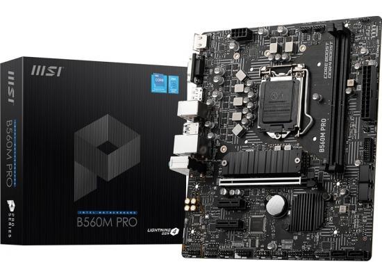 MSI B560M PRO LGA 1200 Intel B560 11th & 10th Intel CPUs Pcie Gen 4.0 , SATA 6Gb/s Micro ATX Intel Motherboard